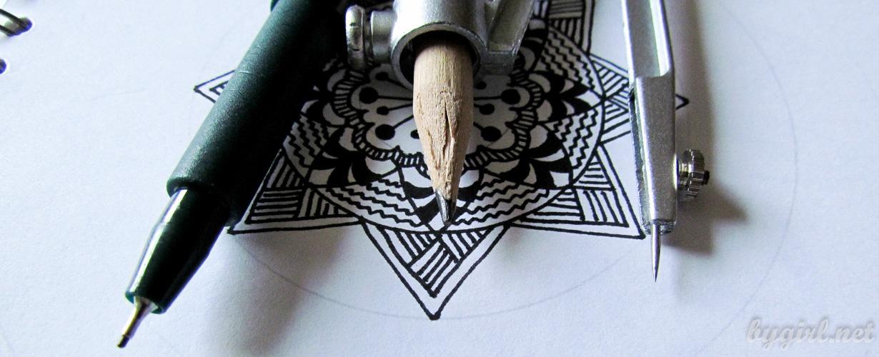 где (и как) учиться рисовать мандалы, зентангл, дудлинг