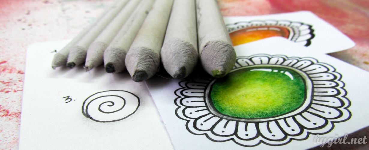 Учимся рисовать зентангл вместе: добавляем объем с помощью теней
